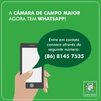 Câmara de Campo Maior cria ouvidoria através do aplicativo WhatsApp