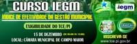 Câmara Realizará  Curso de IEGM