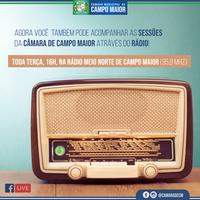 Sessões da Câmara de Campo Maior serão transmitidas por rádio a partir de hoje (19)