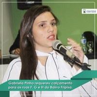 Vereadora Gabriela Pinho Requere Calçamento Para ruas no Bairro Fripisa.